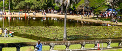 photo - Northern Reflection Pond, Angkor Wat (Jassy-50) Tags: photo angkorwat siemreap cambodia angkorarchaeologicalpark unescoworldheritagesite unescoworldheritage unesco worldheritagesite worldheritage whs panorama northernreflectionpond waterlilies lotus fence people pond