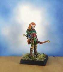 Female-Elf-Ranger-Archer-Reaper-Miniature-03 (Dead Bard Miniatures) Tags: dd dungeons dragons reaper ralpartha grenadier warhammer wotc chainmail pathfinder painted miniature mini