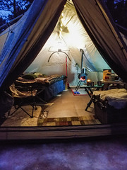 Winter Glamping (NicoleW0000) Tags: wintercamping glamping tent woodstove fire snow cozy outfitterstent