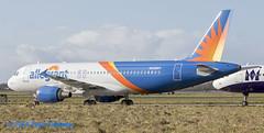 N258NV A320 Allegiant (Anhedral) Tags: n258nv airbus airbusindustrie a320 a320200 allegiantair shannonairport einn snn