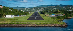 2017 - Regent Cruise - St. Lucia - George F.L. Charles Airport (Ted's photos - For Me & You) Tags: 2017 cropped nikon nikond750 nikonfx regentcruise stlucia tedmcgrath tedsphotos vignetting airport airportrunway georgeflcharlesairport castries castriesgeorgeflcharlesairport georgeflcharlesairportcastries castriesairport