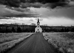 Road to Redemption (Kent Copeland) Tags: storm clouds remote mountains blackandwhite bnw church montana unitedstates