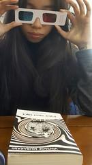 3D COVER (Roving I) Tags: murikami books design 3d 3dglasses awildsheepchase covers pubishing longhair reading danang vertical vietnam