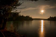 Southern Sun (Knarr Gallery) Tags: sun sunlight sunset winter ice lake pond north muskoka huntsville reflection silhouette nikon d300 18200mmf3556gvrii knarrgallery knarrphotography darylknarr clouds sky landscape beauty