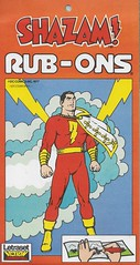 Shazam! Rub-Ons ( Letraset 1977 ) (Donald Deveau) Tags: letraset dccomics superhero rubons shazam captainmarvel vintagetoy