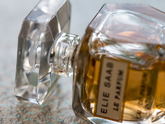 Miniature perfume. (Greenstone Girl) Tags: in bottle macromonday mondays elie inabottle perfume