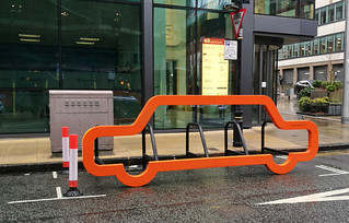 45 Church Street - Cornwall Street orange bike rack - Colmore Business District