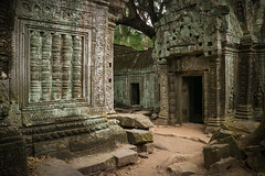 Once Upon A Time (preze) Tags: taprohm angkor siemreapprovince kambodscha cambodia südostasien templeruin tempelruine tombraidertemple laterit sandstein khmer