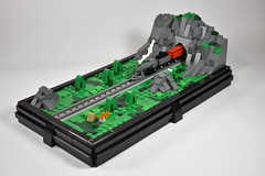 Country Side Tunnel (dzambito42) Tags: lego micro train tracks tunnel traintunnel mountain camp