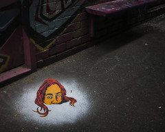 Buried head (J-C-M) Tags: stencil art artwork melbourne lane laneway alley alleyway paint painting streetart wallart street graffiti grafitti
