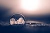 Schönheit auf Zeit (Timo Nennen) Tags: seifenblase bubble soapbubble soap winter schnee snow sundet sonnenuntergang gegenlicht blase muster eis ice eiskristalle frozen gefroren drops