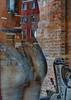 Shop window reflections in Venice - Schaufensterspiegelungen (Redederfla) Tags: spiegelung schaufenster da vinci mirrors werbung kulturwerbung kunst maske