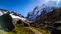 Day in Salkantay (SalkantayTrekMachu) Tags: travel travelphotography treking travels trek tourism travelinperu trekkinginperu traveling travelpic hike holidays heaven photography photograpyisart white green paysage ausangate tour traveler nature extreme waterr snow snowy salkantay summer