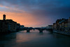Florence - River Arno (bautisterias) Tags: italy italia italien italie tuscany toscana toscane renaissance rinascimento river water sunset sun winter wintry red orange purple sky clouds sunlight evening dusk florence firenze reflection bridge d750 cold serene city europeancity europe skyline cityscape