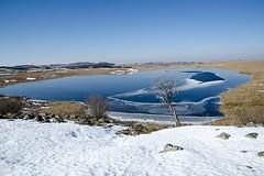 Lac Saint-Andéol, Lozère (lyli12) Tags: lac hiver gel nature languedocroussillon landscape paysage eau nikon france ice