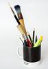 Focus on the Important colour - Pantone 4C (Ian Johnston LRPS) Tags: pantone4c colour black mug drawing painting art design colours onwhite focus crayons pencils brushes