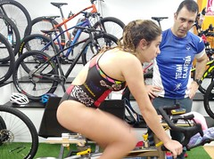Alba Álvarez triatlón Indoor team clavería triatlón World 6