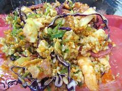 Ola Poke9 (annesstuff) Tags: annesstuff food sushi sashimi poke hawaiian fish brownrice salmon salad shrimp roe redcabbage