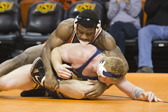 Oklahoma State Cowboys vs West Virginia Mountaineers Wrestling Dual, Friday, January 19, 2018, Gallagher-Iba Arena, Stillwater, OK. Bruce Waterfield/OSU Athletics (OSUAthletics) Tags: 2018 mountaineers osu wvu big12 cowboys jacobesmith oklahomastateuniversity pokes smith westvirginiauniversity wrestling