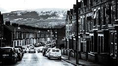 Lisburn Road (ColinParte) Tags: belfast urban city mono street winter snow
