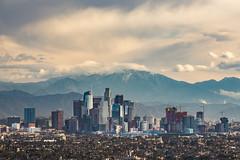 A Hazy View of Downtown LA (Joits) Tags: losangeles kennethhahnstaterecreationarea nikon70200mmf28gvrii downtownlosangeles hazy