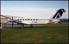 F-GHSI - Roskilde (RKE) 14.04.2001 (Jakob_DK) Tags: b190 beech1900c1 beechcraft beechaircraftcorporation b1900 beech1900 ekrk rke roskildelufthavn roskildeairport copenhagenroskildeairport frs flandreair 2001 fghsi