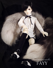 Silver (Traumsammler) Tags: bjd balljointeddoll doll outfit traumsammler migidoll mir migidollmir mcute43 hobby collection noble child aristocrate european handmade sell preorder cute kawaii adorable fox foxtail design sewing shirt