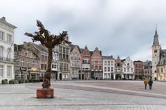 Grand market square of Dendermonde Belgium (lluunnoo) Tags: houses buildings centre dendermonde city square
