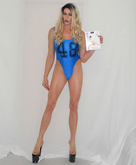 Liking this one (queen.catch) Tags: catchqueenyoutube drag dragqueen dragfit sissy shemale crossdresser heels pleasershoes leotard blue pantyhose nylons legsfordays wig makeup blonde review video