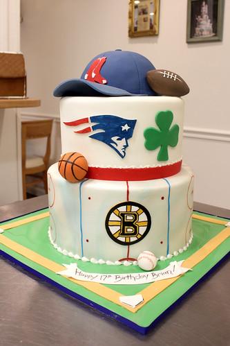 Boston Sports Cake
