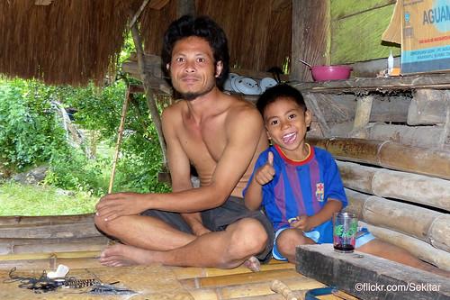 Father and son at Kampung Tarung, Waikabubak, Sumba Barat