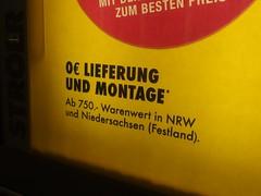 Lieferung nur auf's Festland (mkorsakov) Tags: dortmund hbf bahnhof mainstation werbung commercial 181 citylight wtf gelb yellow