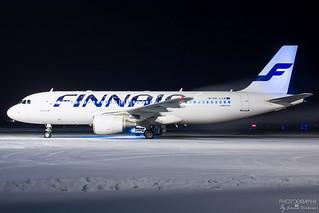 OH-LXA Finnair Airbus A320-200, EFTP, Finland
