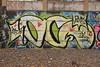 OC (TheGraffitiHunters) Tags: graffiti graff spray paint street art colorful cement wall nj new jersey trackside freight train tracks oc