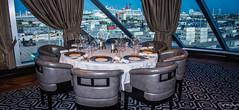 2017 - Regent Explorer - Interior (Ted's photos - For Me & You) Tags: 2017 cropped nikon nikond750 nikonfx regentcruise tedmcgrath tedsphotos vignetting table tablesetting chairs emptyseats window cruiseship sevenseasexplorer glasses wineglasses plates
