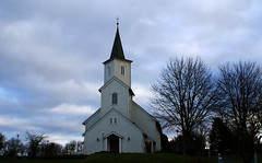 church (helena.e) Tags: helenae norge norway himmel sky moln cloud church kyrka bremnes bömlo