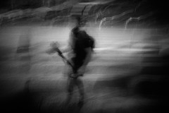 the colleague (ChrisRSouthland) Tags: athens monochrome bw street photographer blur longexposure icm mmonochrom elmarit28mmf28