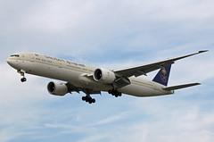 Saudi Arabian Airlines Boeing 777-3FG(ER) HZ-AK38 (EK056) Tags: saudi arabian airlines boeing 7773fger hzak38 london heathrow airport