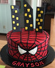 spiderman (backhomebakerytx) Tags: cake birthday kid spiderman city scape super hero backhomebakery