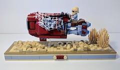 Moc Lego Star Wars - Rey's speeder (chapelle7048) Tags: rey speeder starwars moclego lego jakku
