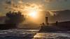 Stormy Sunset (Jose Viegas) Tags: sunset storm faroldefelgueras foz fozdoouro porto portugal pordosol waves bigwaves landscape seascape olympusem1markii