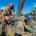 Naval Mobile Construction Battalion 133 secures rebar at a site aboard Polaris Point, Guam