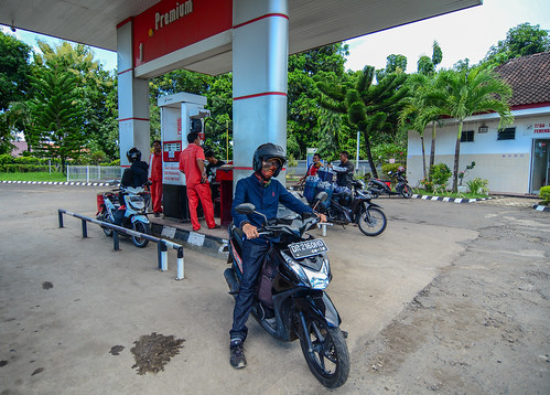 Petrol station in Lombok, Indonesia