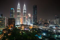 Kuala lumpur city skyline by night, Kuala lumpur Malaysia (Patrick Foto ;)) Tags: architecture asia blue building buildings business capital center cities city cityscape destinations district downtown dusk evening famous growth kl klcc kuala lake landmark landscape lumpur malaysia modern night nightlife office park petronas place scene scenics shopping sky skyline skyscraper structure sunset tall tallest tower towers travel twilight twin urban view world