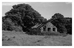 Goathland moor barn (Antony Fleming) Tags: film mono blackandwhite kodak 100tmax barn stone moors northyorkshire ruin