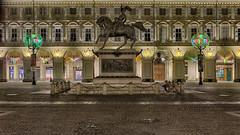 . (bluestardrop - Andrea Mucelli) Tags: torino turin piemonte piedmont italia italy piazzasancarlo cavaldbrons lucidartista luci lights notte night