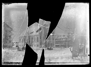 Glass negative as it arrived in the mail