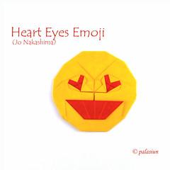 heart eyes emoji (polelena24) Tags: origami heart valentine square love easy jonakashima onesheet