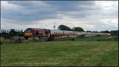 67016 Hessay, York (Mark's Train pictures) Tags: 67016 ewsrailways hessay harrogateloop railtour singletrack class67 shed cass67 dbschenker dbcargo harrogatecircle