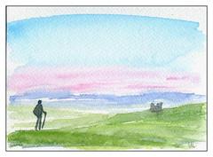 Marcheur (ybipbip) Tags: aquarelle aquarell akvarell watercolor watercolour paint painting pintura paysage landscape